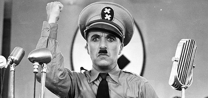 """""""The Great Dictator"""" by Charlie Chaplin"""