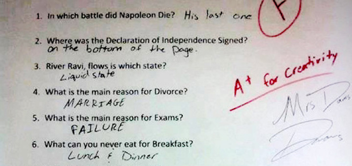 A++ – How to fail your exam with style.