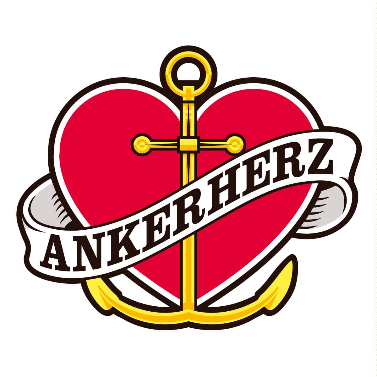 Ankerherz Verlag Logo - Drawn by Jerzovskaja  (Vector illustration drawn with Adobe Illustrator)