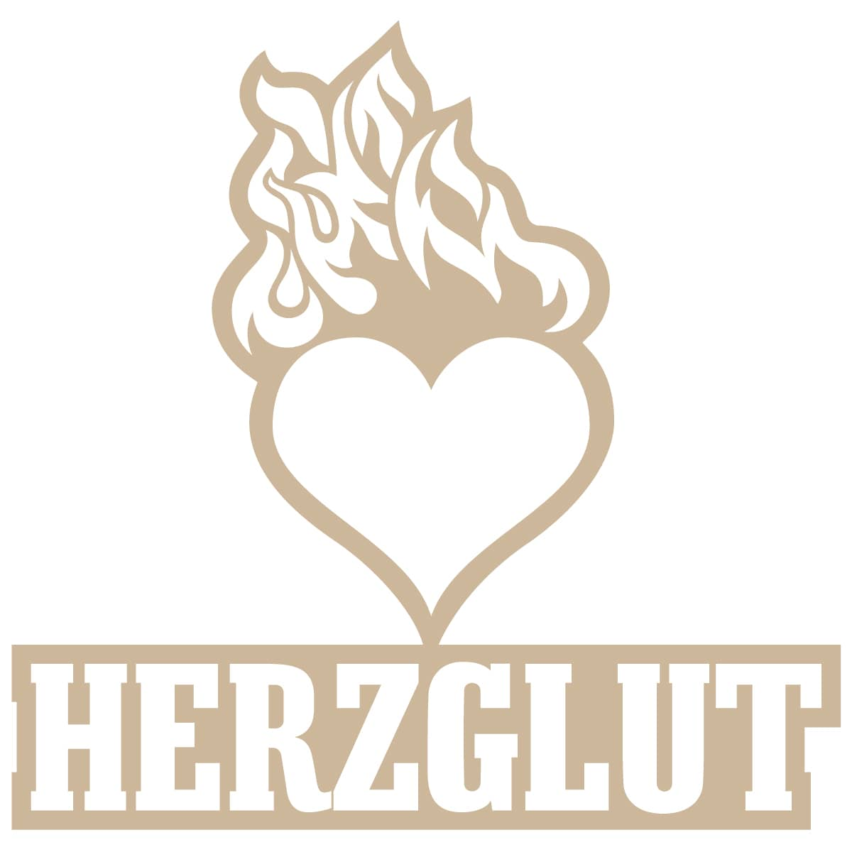 Herzglut Illustration und Verlag - Logo gezeichnet von Jerzovskaja   (Vector illustration drawn with Adobe Illustrator)