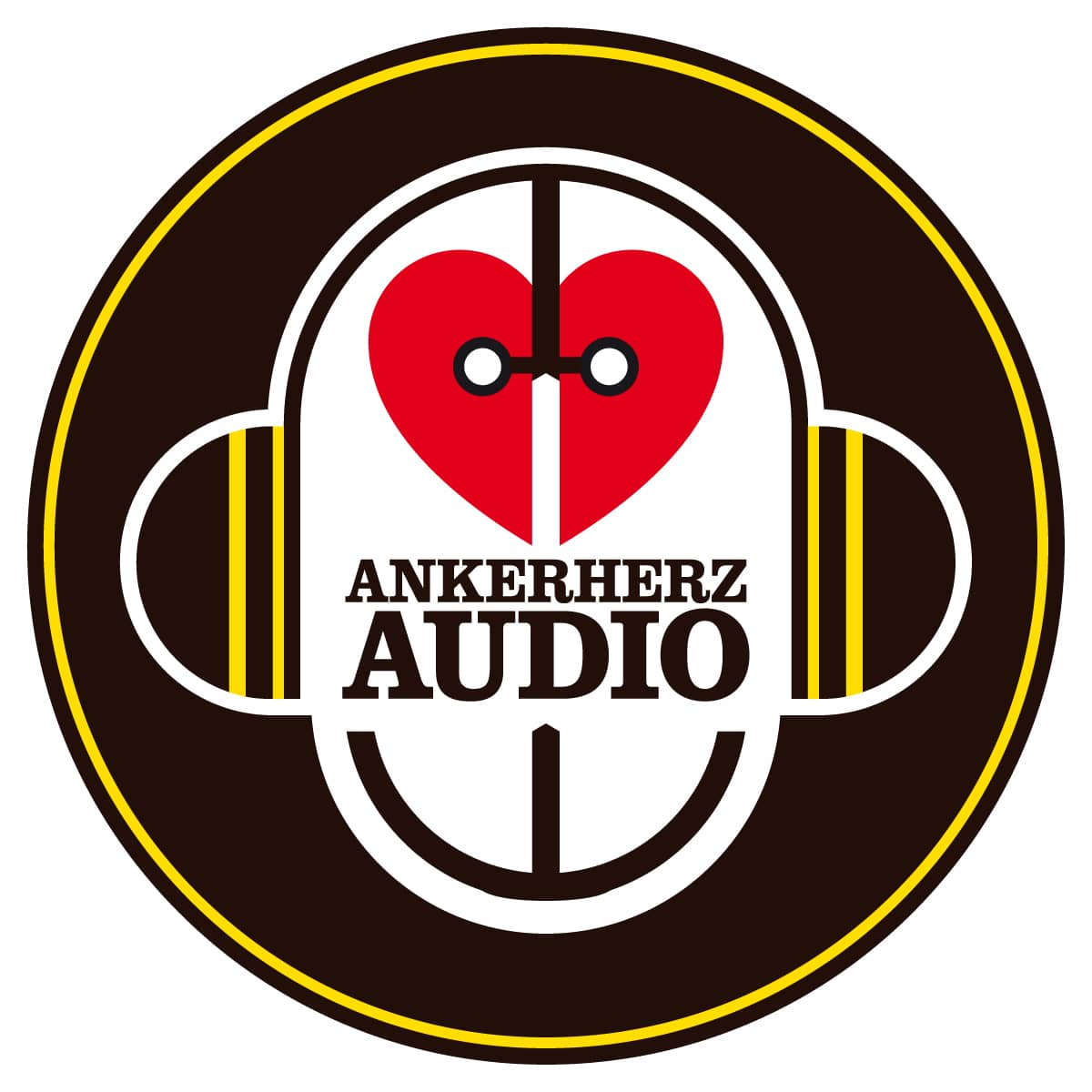 Ankerherz Audio Logo - gezeichnet von Jerzovskaja (Vector illustration drawn with Adobe Illustrator)