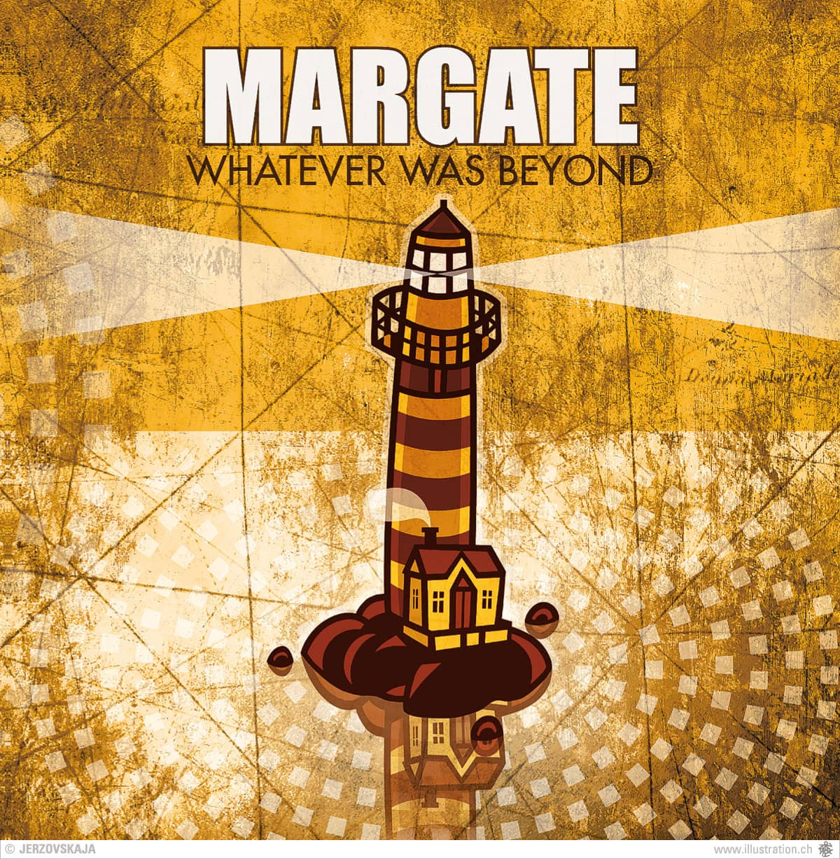 Margate CD Cover - Illustration, Grafidesign und Printproduktion: Jerzovskaja  (Vector illustration drawn with Adobe Illustrator)