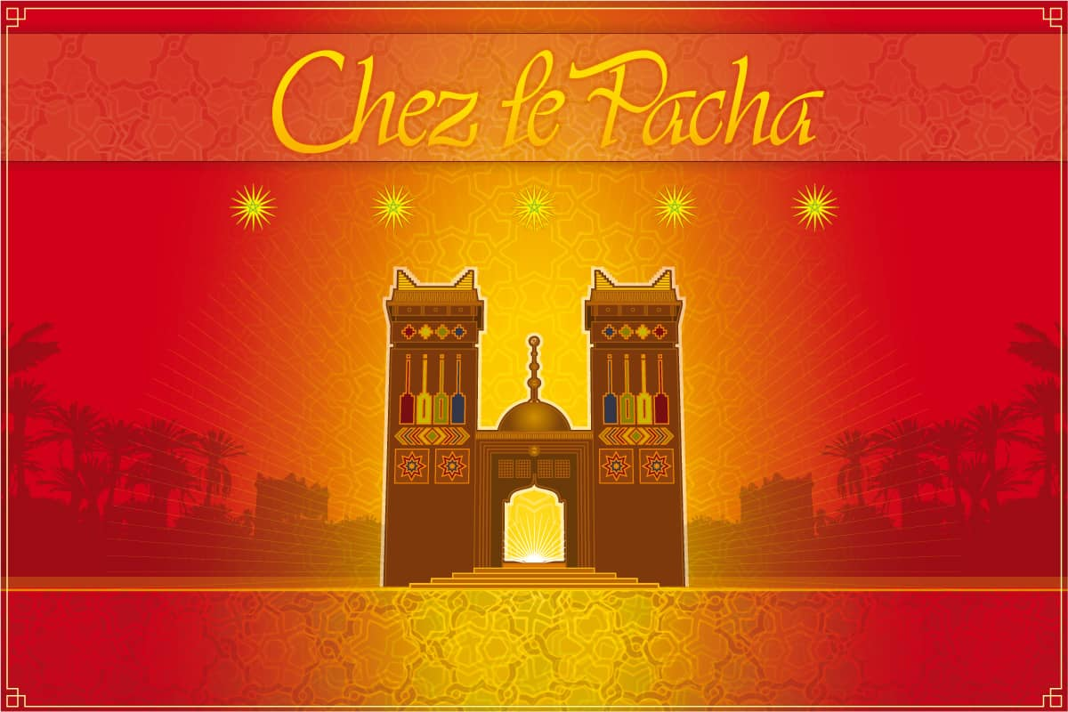 Jerzovskaja - Wüstenhotel Chez Le Pacha - Logo, Illustration, Website  (Vector illustration drawn with Adobe Illustrator)